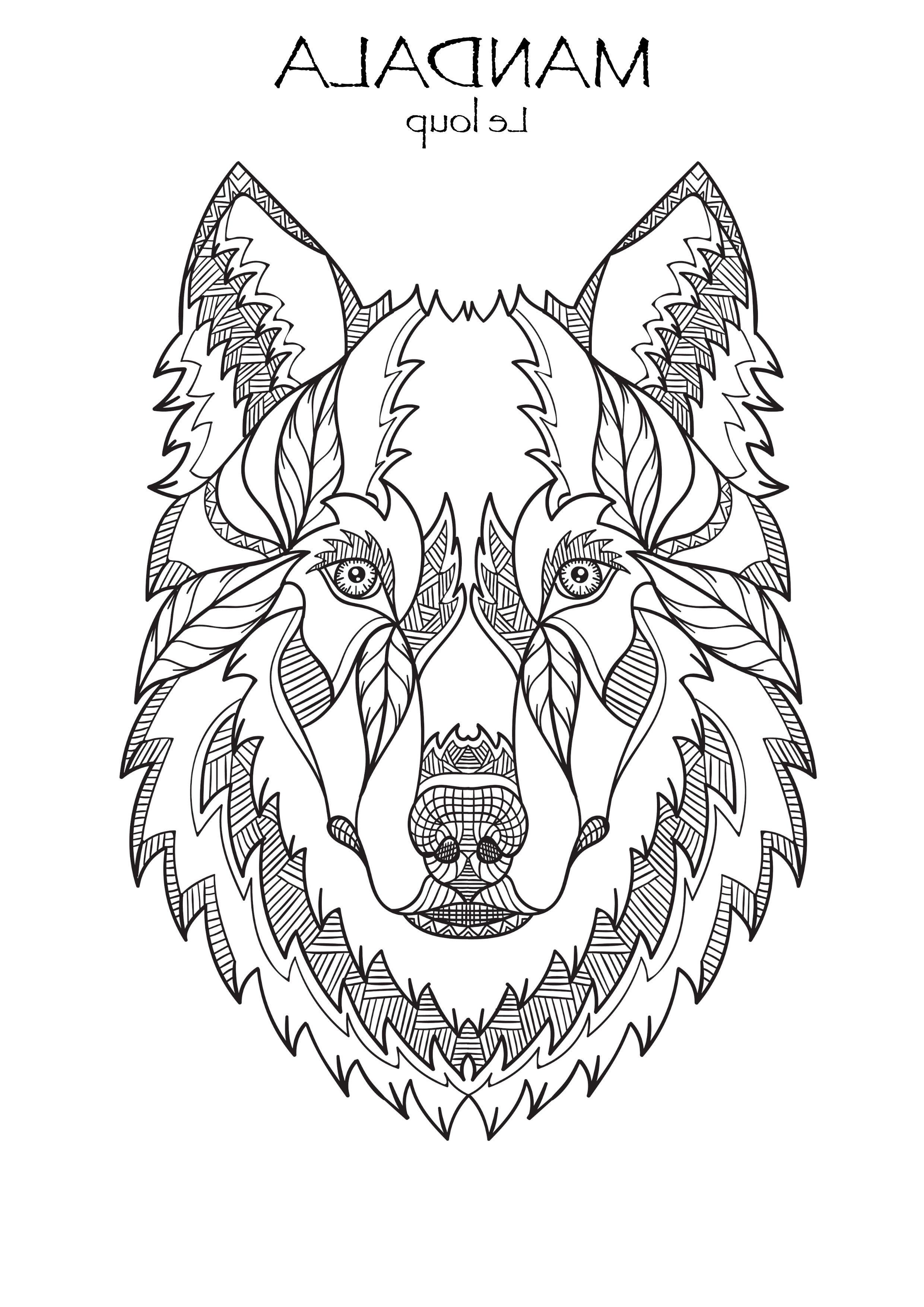 30 Beau De Coloriage Mandala Loup Photos  Coloriage mandala
