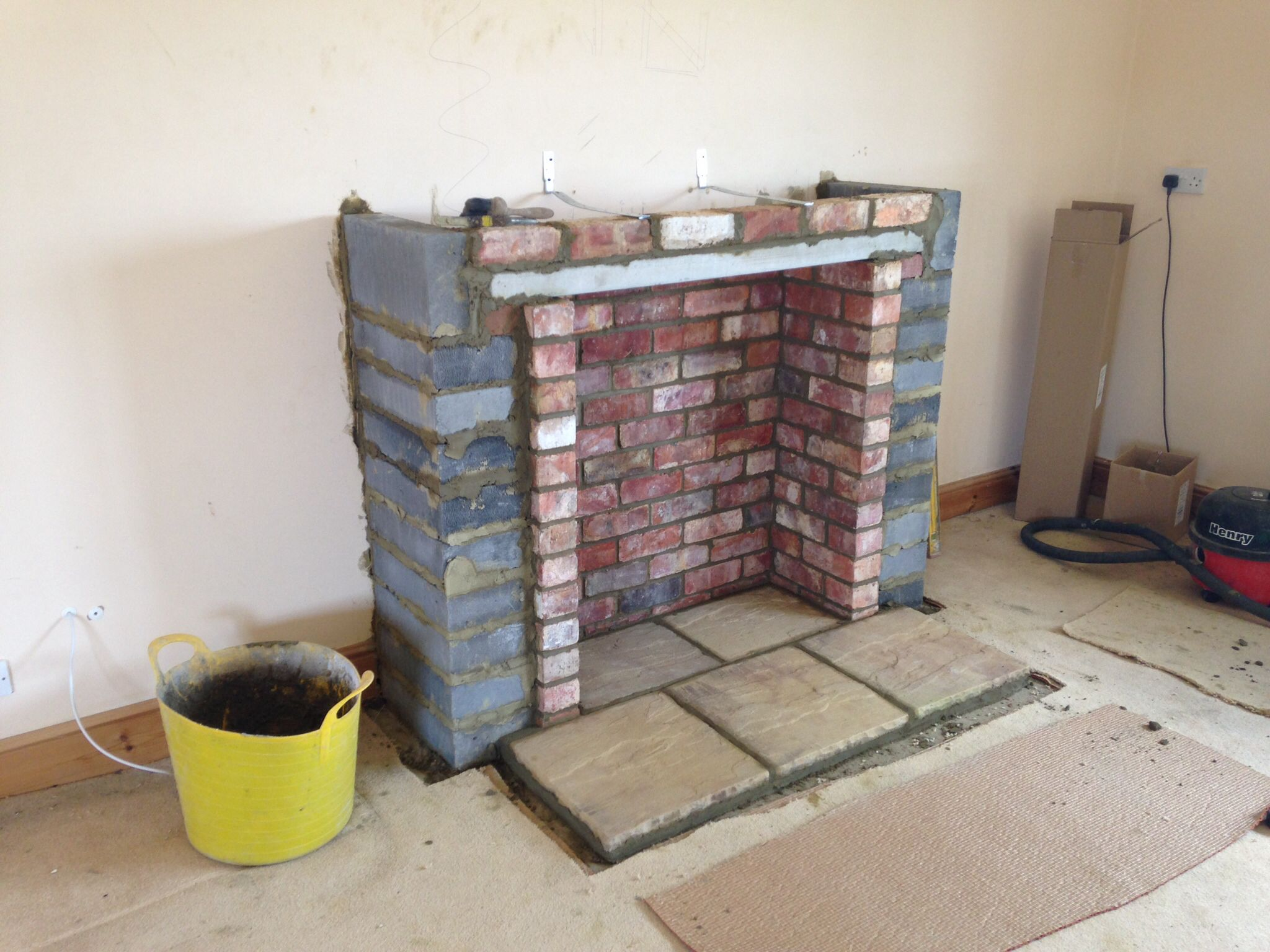 Building chimney breast ready for a stove colesforfires for Wood burning fireplace construction