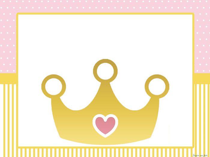 "Princesa ""Coroa dourada"" – Kit festa grátis para imprimir | Inspire ..."