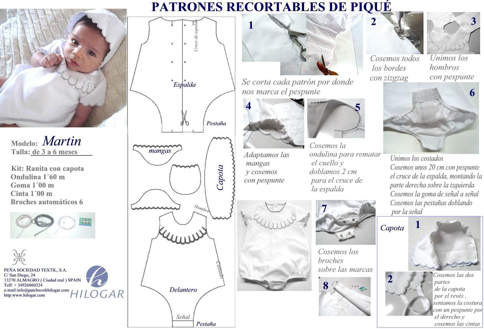 Patrones ranita para bebés de 6 meses de Piqué Martín de la mano de ...