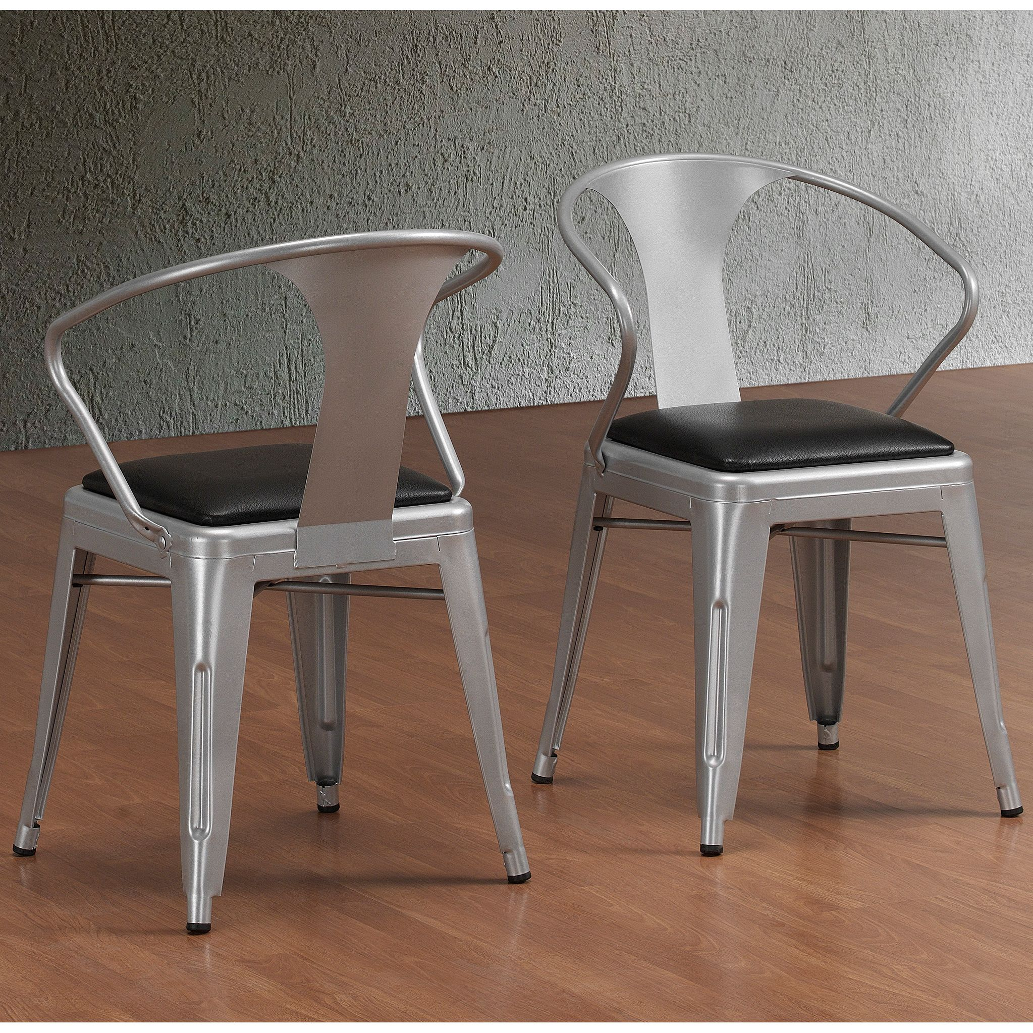Delightful These Durable, Padded Silver Tabouret Stacking Chairs Showcase A  100 Percent Steel Construction That