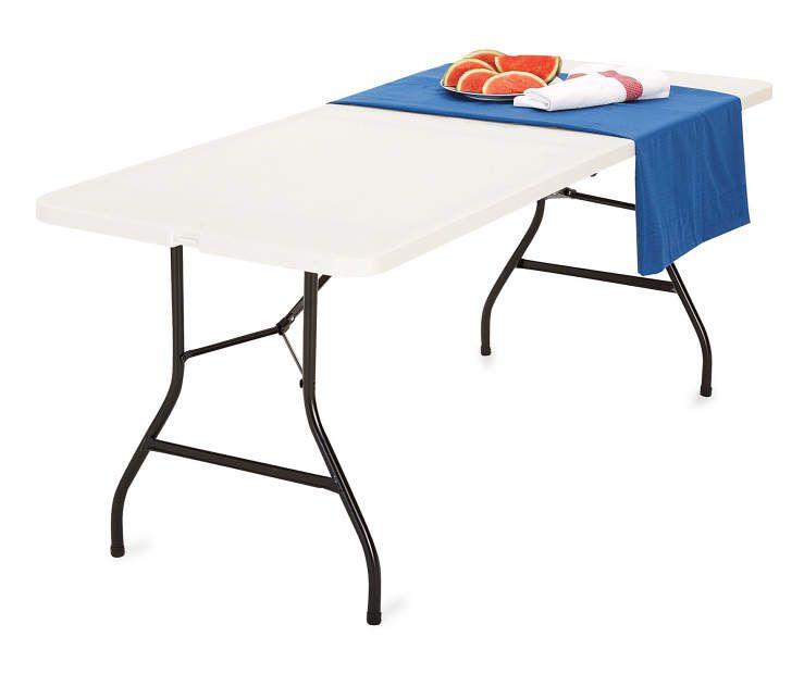 6 White Center Folding Table Big Lots Folding Table Folding Furniture Table