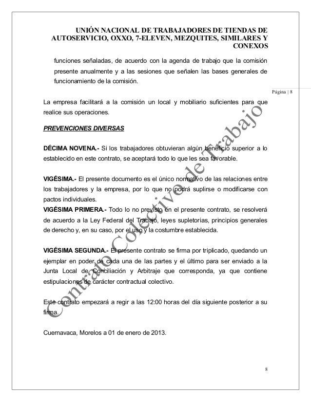 UNIÓN NACIONAL DE TRABAJADORES DE TIENDAS DE AUTOSERVICIO, OXXO, 7 ...