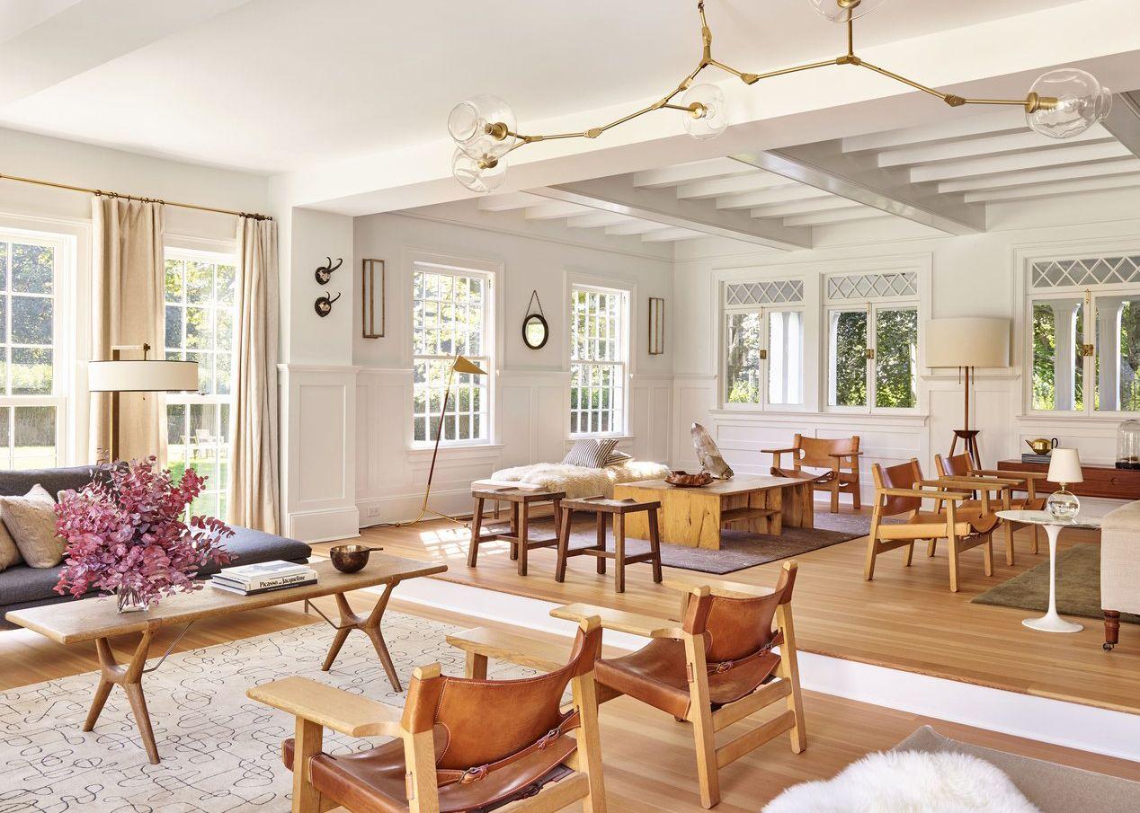 House Tour Modern Neutrals Fill A Family S Hampton Home Open