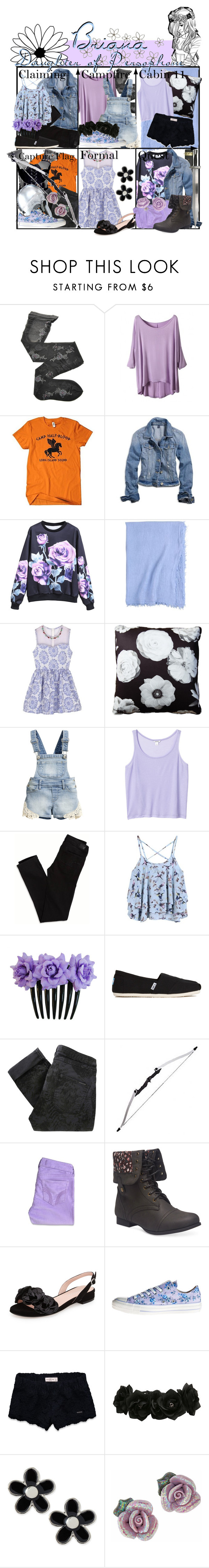 """""""Requested by scarlett-iconer: Briana Daughter of Persophone ~ Wardrobe"""" by liesle ❤ liked on Polyvore featuring Fogal, American Eagle Outfitters, Frette, S.W.O.R.D., Stuart Lawrence, H&M, Monki, TOMS, Maison Scotch and Hollister Co."""