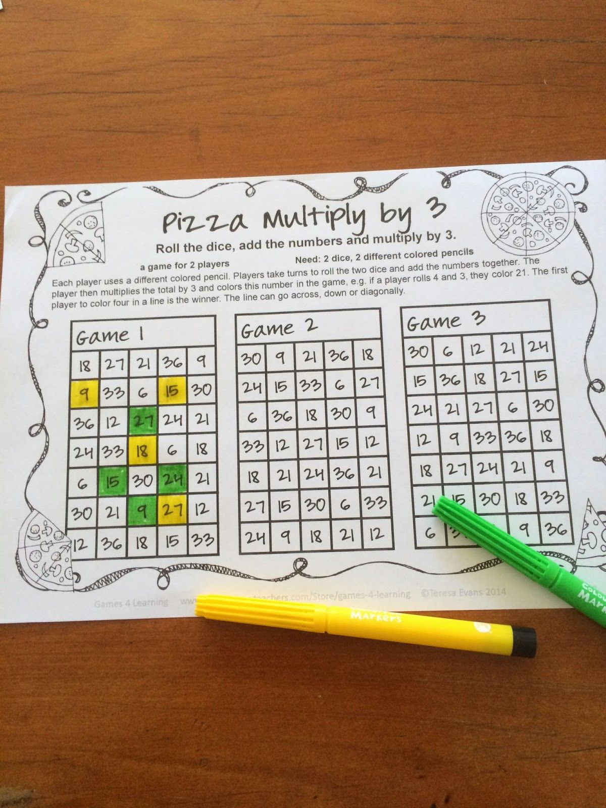 No Prep Multiplication Games For Fact Fluency Distance