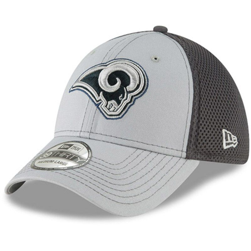 6c5fdf1c130 Los Angeles Rams New Era Primary Logo Grayed Out Neo 2 39THIRTY Flex Hat -  Gray Graphite