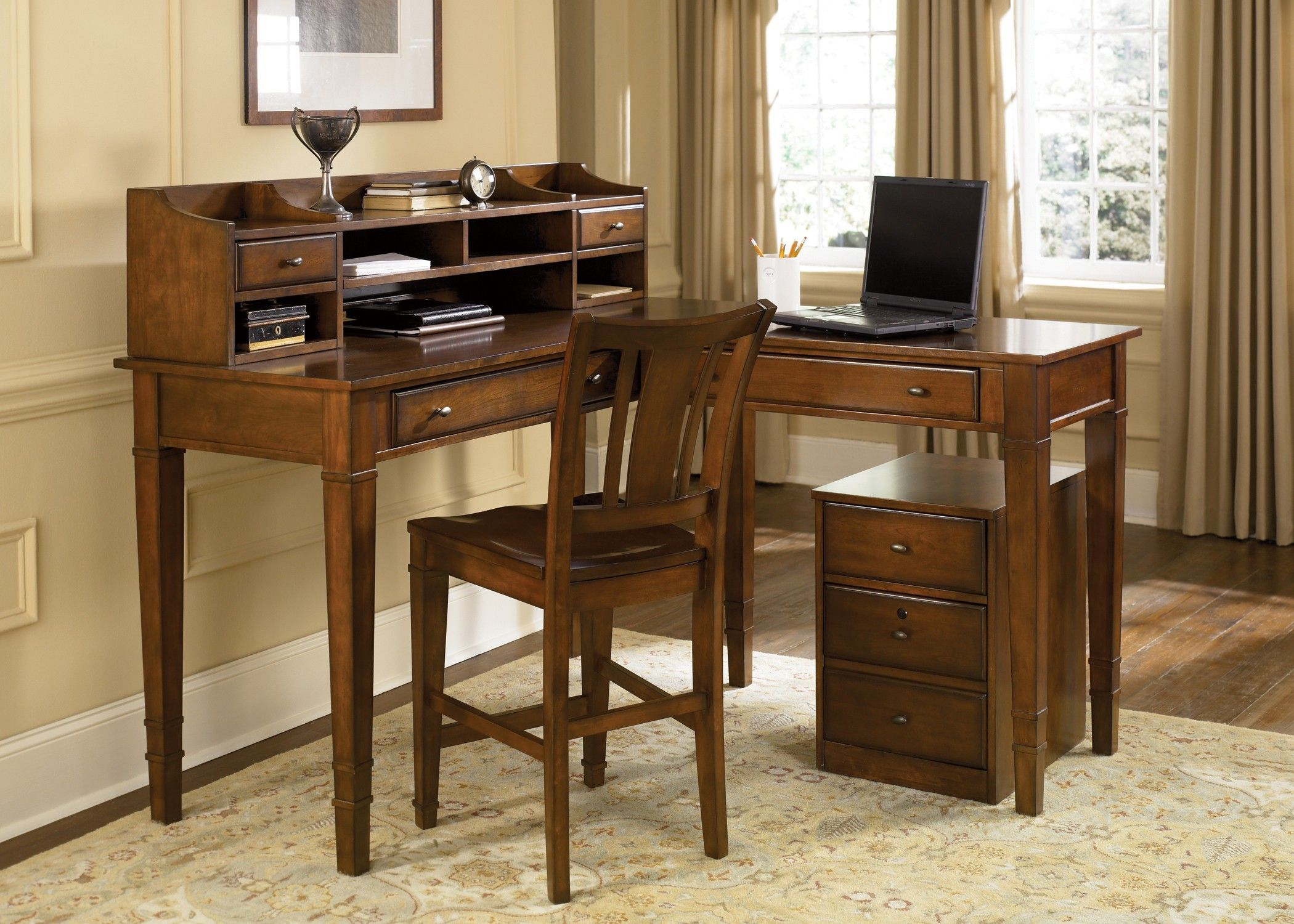 How Attractive Rustic Computer Desk Designs Rustic Home Offices
