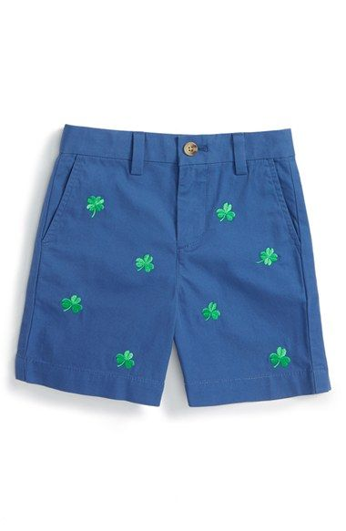 Vineyard Vines 'Lucky Clover' Embroidered Shorts