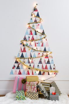 DIY a Non-Traditional Christmas Tree Out of Holiday Cards in Under 60 Minutes via Brit   Co