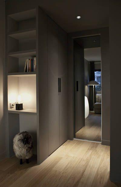 r alisations r novation d 39 un studio de 13 m2 paris paris stephan bidoux bedroom pinterest. Black Bedroom Furniture Sets. Home Design Ideas