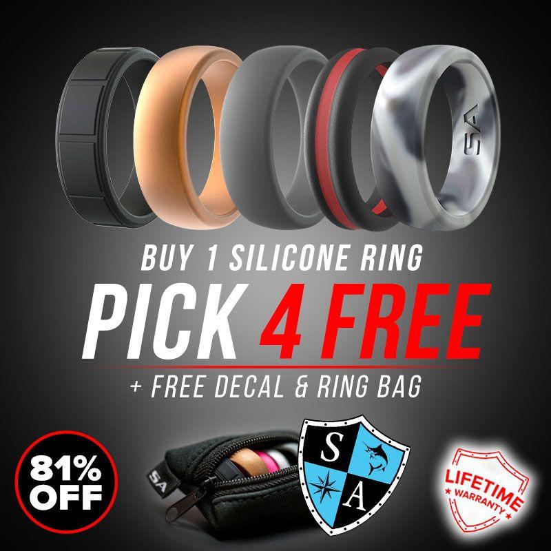Buy 1 Silicone Ring - Pick 4 FREE - SA Company
