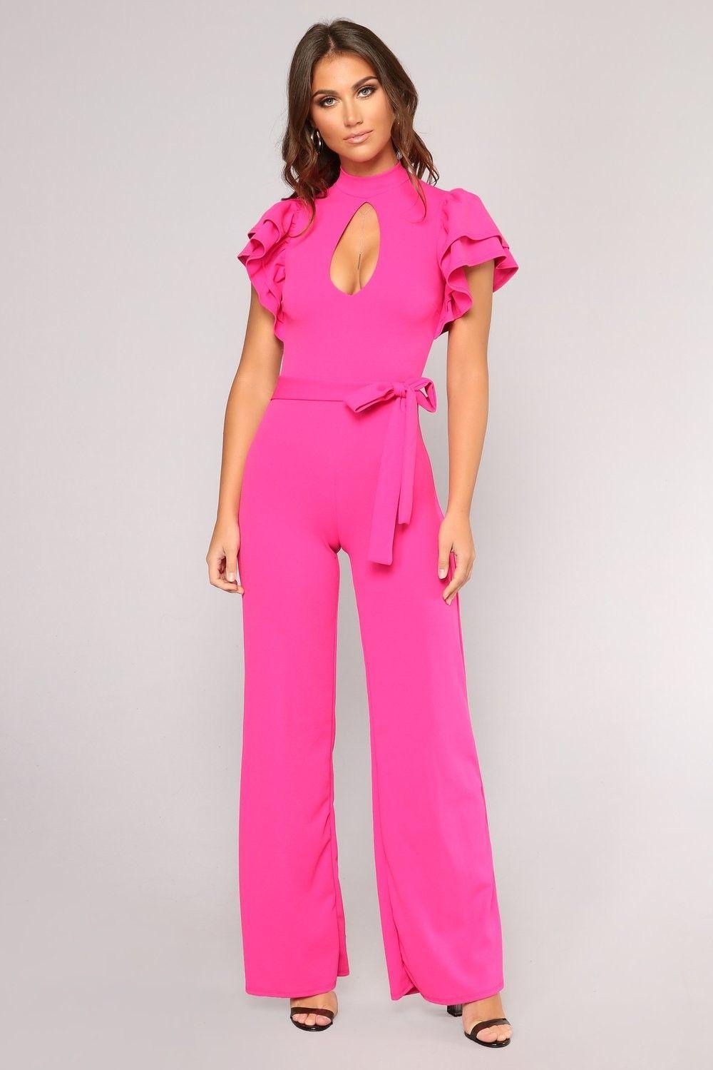 f05aa9ef3fec Charmane Ruffle Jumpsuit - Fuchsia  34.99  ootd  style  fashion  runway   fashionable