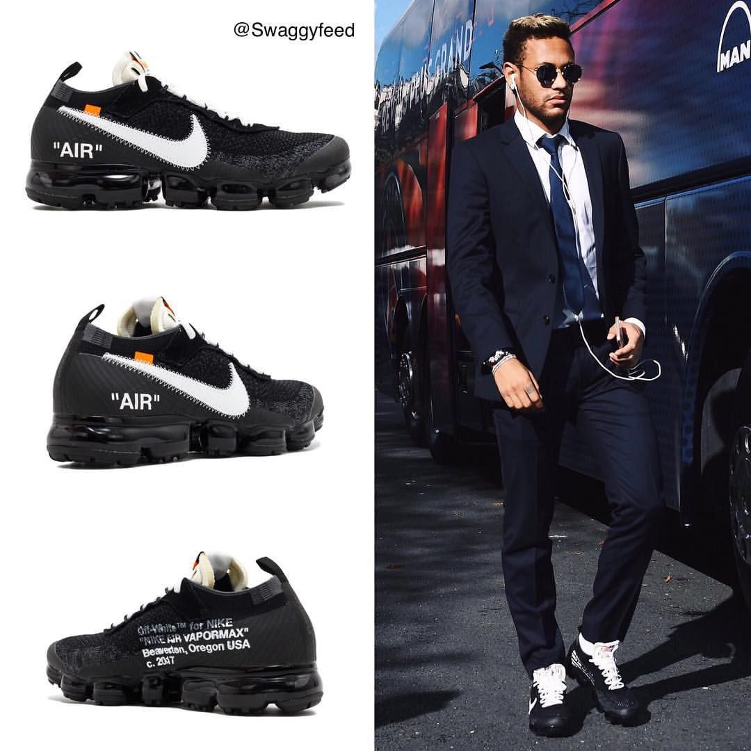 """1e06078b56c ... auf Instagram  """"Would you rock sneakers with a suit  ✓ Neymar wearing  the Off-White x Nike VaporMax (    br kicks)"""". Find this Pin and more on ..."""