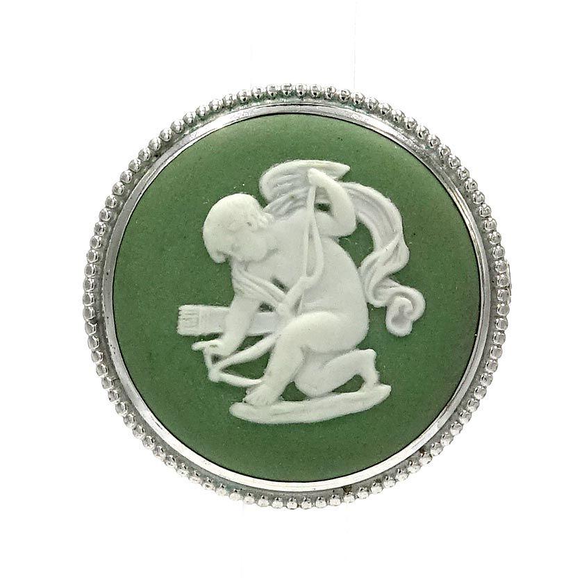 Lot Of 3 Wedgwood Silver Cameo Jasperware Pins #6435