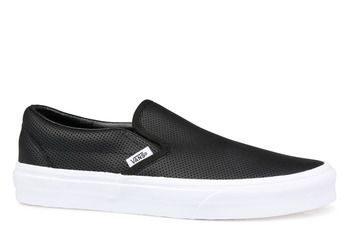 vans womens slip on black leather nz