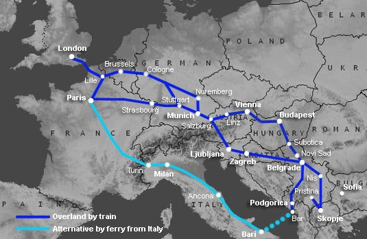 Route 61 Trains Europe Routes By Train Train Travel Montenegro Travel Route