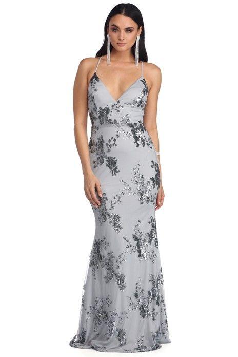 e21a2e1a6d Nicole Gray Sleeveless Sequin Dress | Woman's fashion 8 in 2019 ...