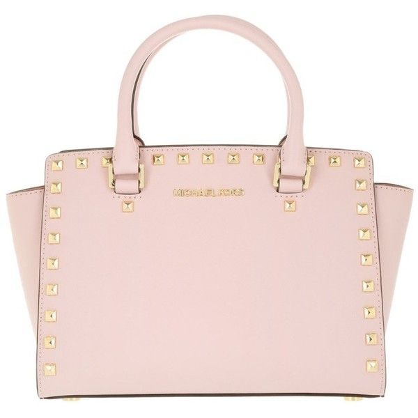 860c746c811e Michael Kors Selma Studded MD TZ Satchel Bag Blossom in gold