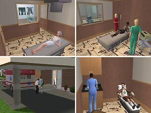 Mod The Sims - Mercy Hospital   Spencer's Board   Sims ...