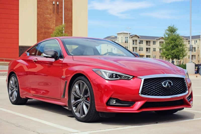 Infiniti Q60 Red Sport 400 Sports coupe, Sports