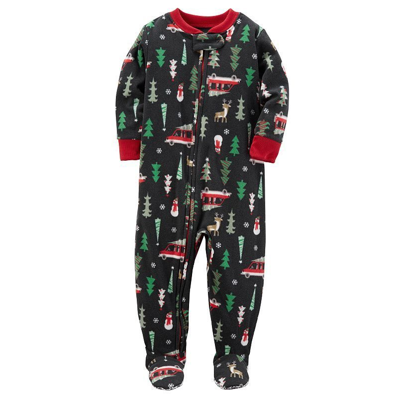 b335108c4fbd Toddler Boy Carter s Racing Off to Bedtime Christmas Microfleece One ...