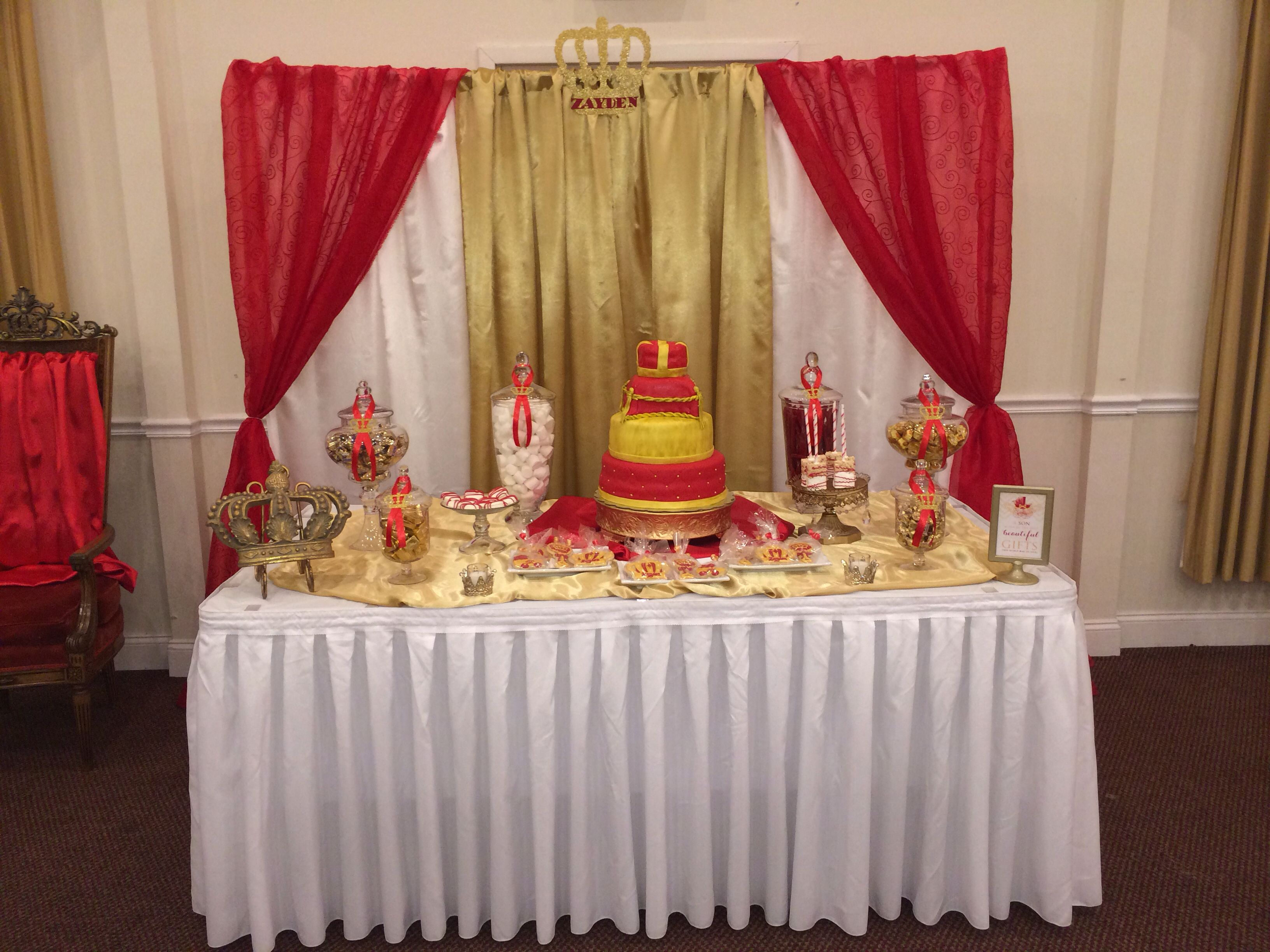 prince baby shower candy cake table and backdrop ws events