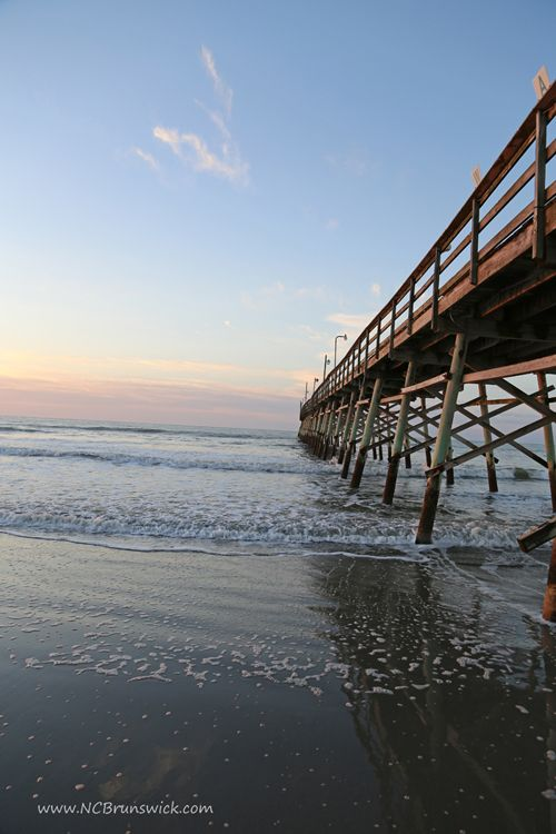 Early Morning At The Pier On Sunset Beach Nc