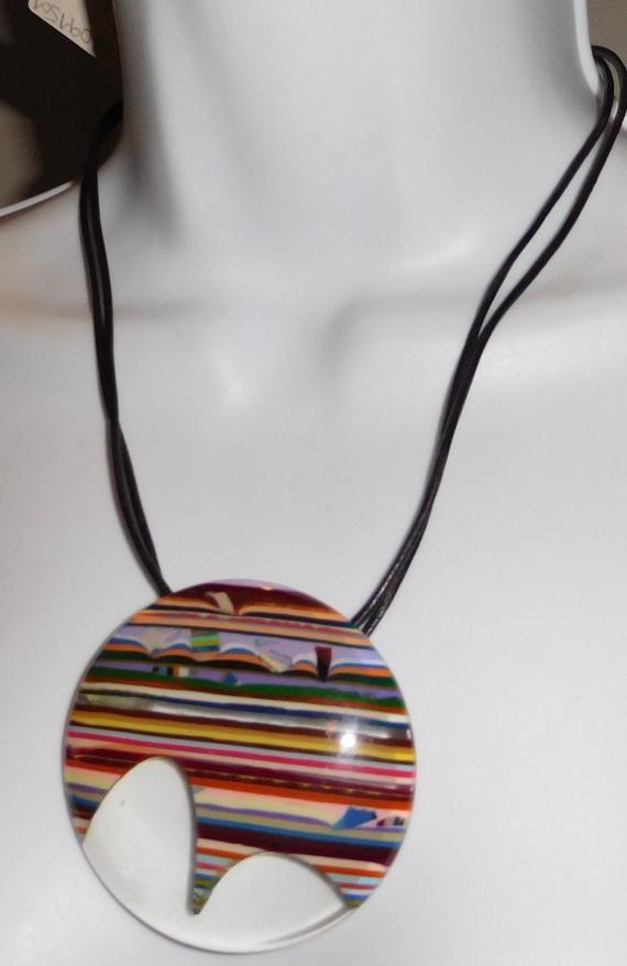 Sobral Rio20 Pop Art Stripe Pao De Acucar Sugar Loaf Necklace | Etsy