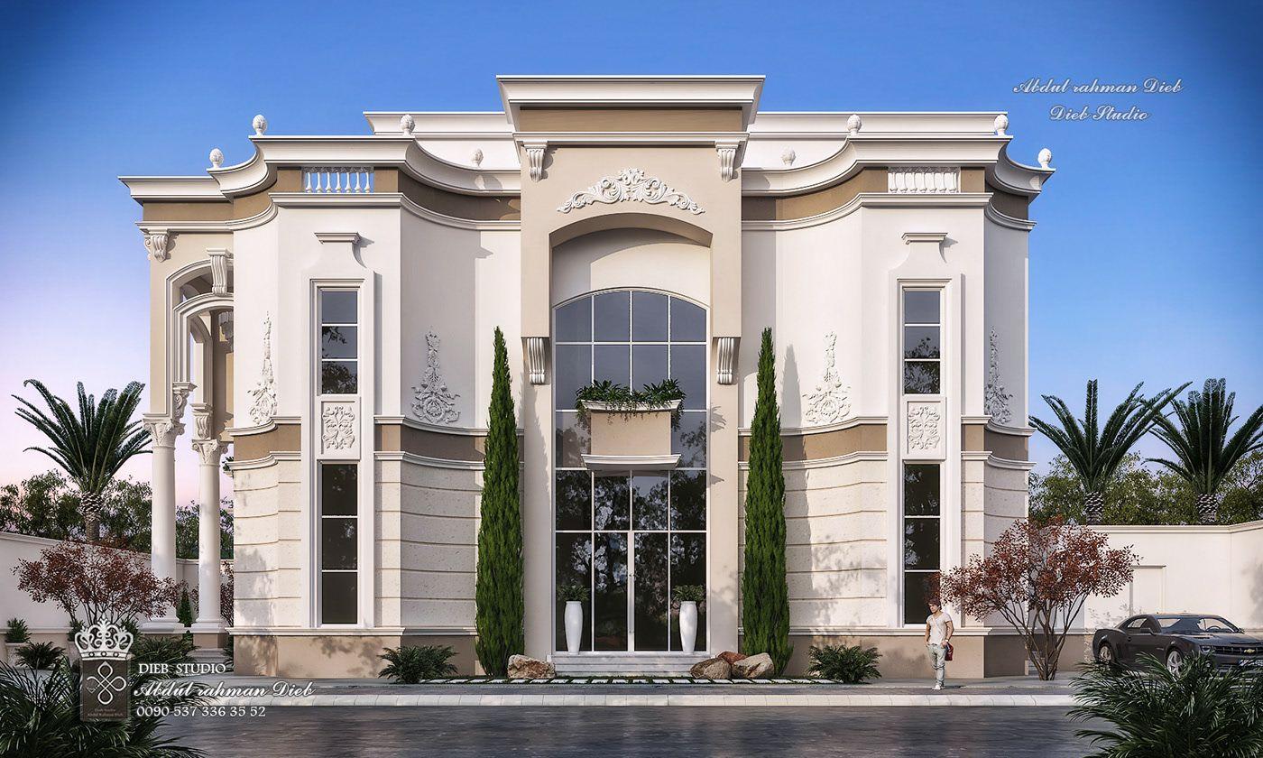 New Classic Villa Wrapped Corners On Behance Luxury Exterior Villa Design Facade Architecture