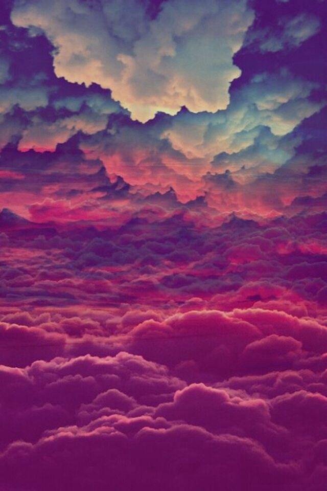 Beautiful Tie Dye Clouds Clouds Iphone Wallpaper Wallpaper