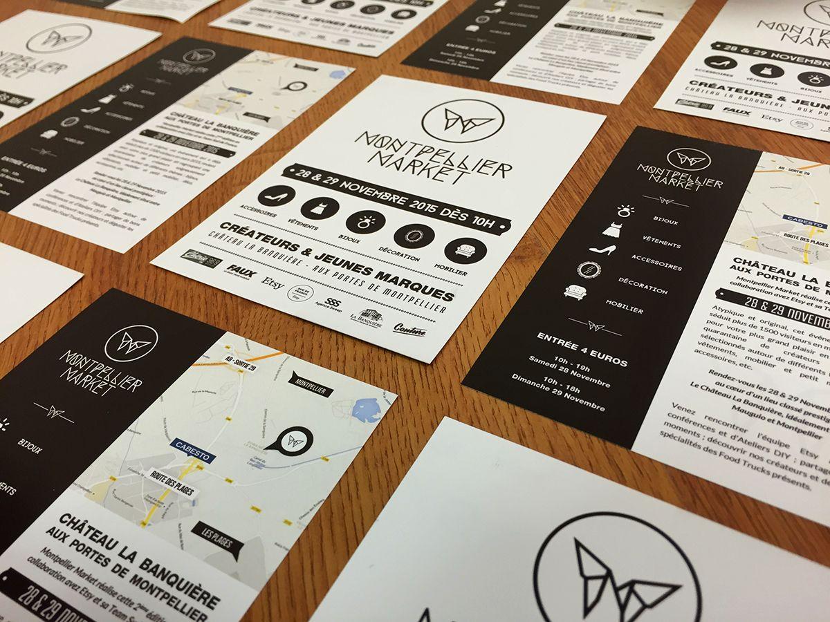 Projets Mise A Jour Du Site Conception Sur Mesure Des Affiches Flyers Cartes Dinvitations Et Tampon Pour Le Salon Montpellier Market