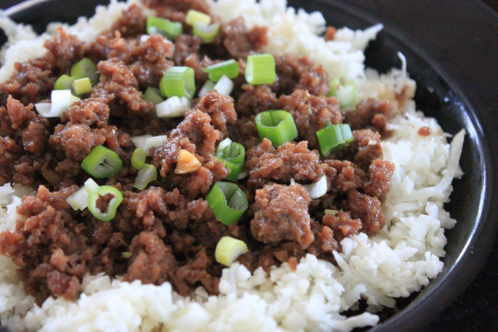 Korean Beef With Cauliflower Rice Beef Korean Beef Spicy Cashews
