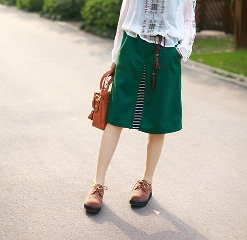 Funky Green Peekaboo Skirt