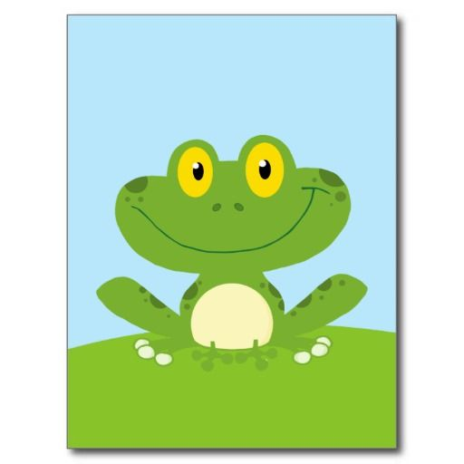 The Best Place Cute Green Frog Post Card
