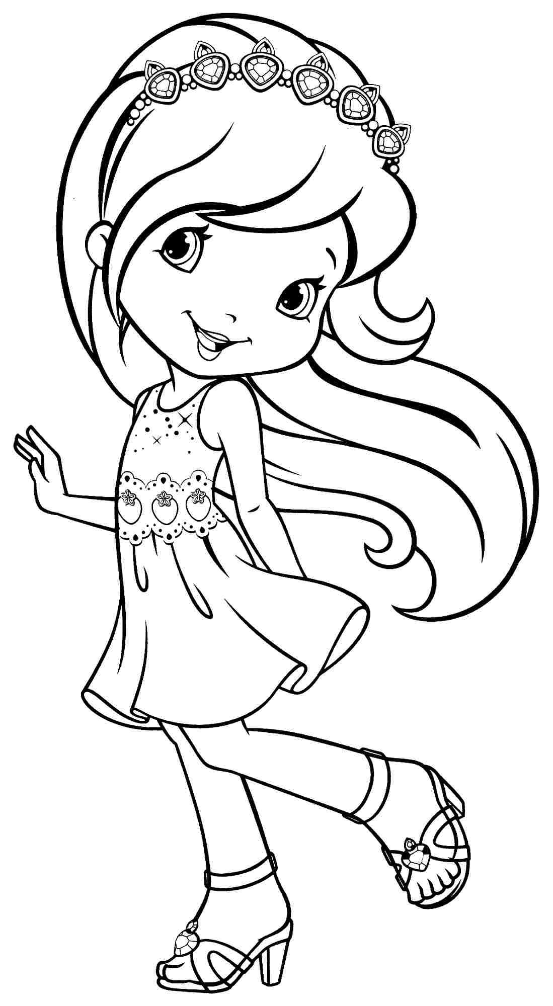 printable coloring pages cartoon strawberry shortcake plum puddin
