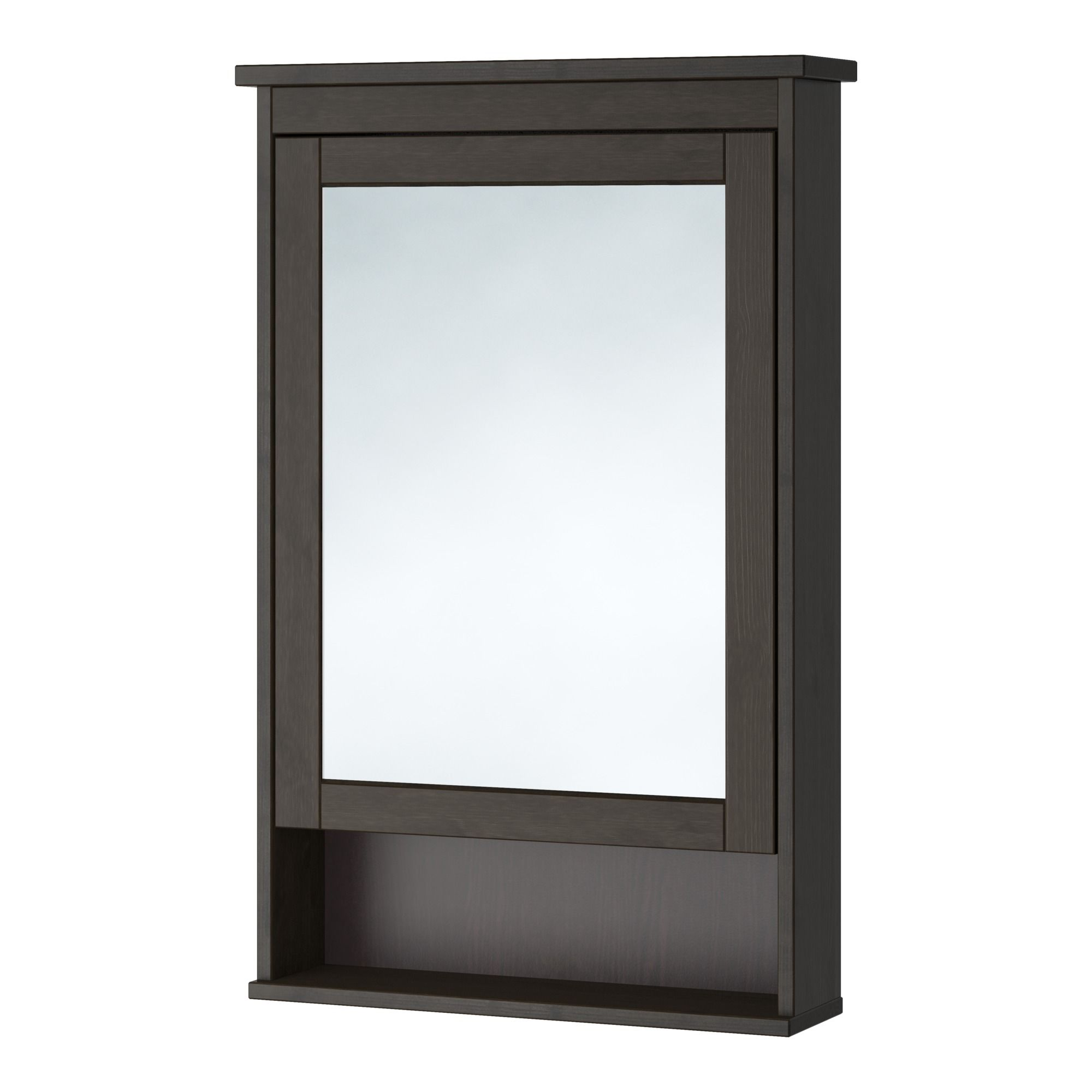 HEMNES, Spiegelschrank 1 Tür, schwarzbraun Jetzt bestellen unter ...