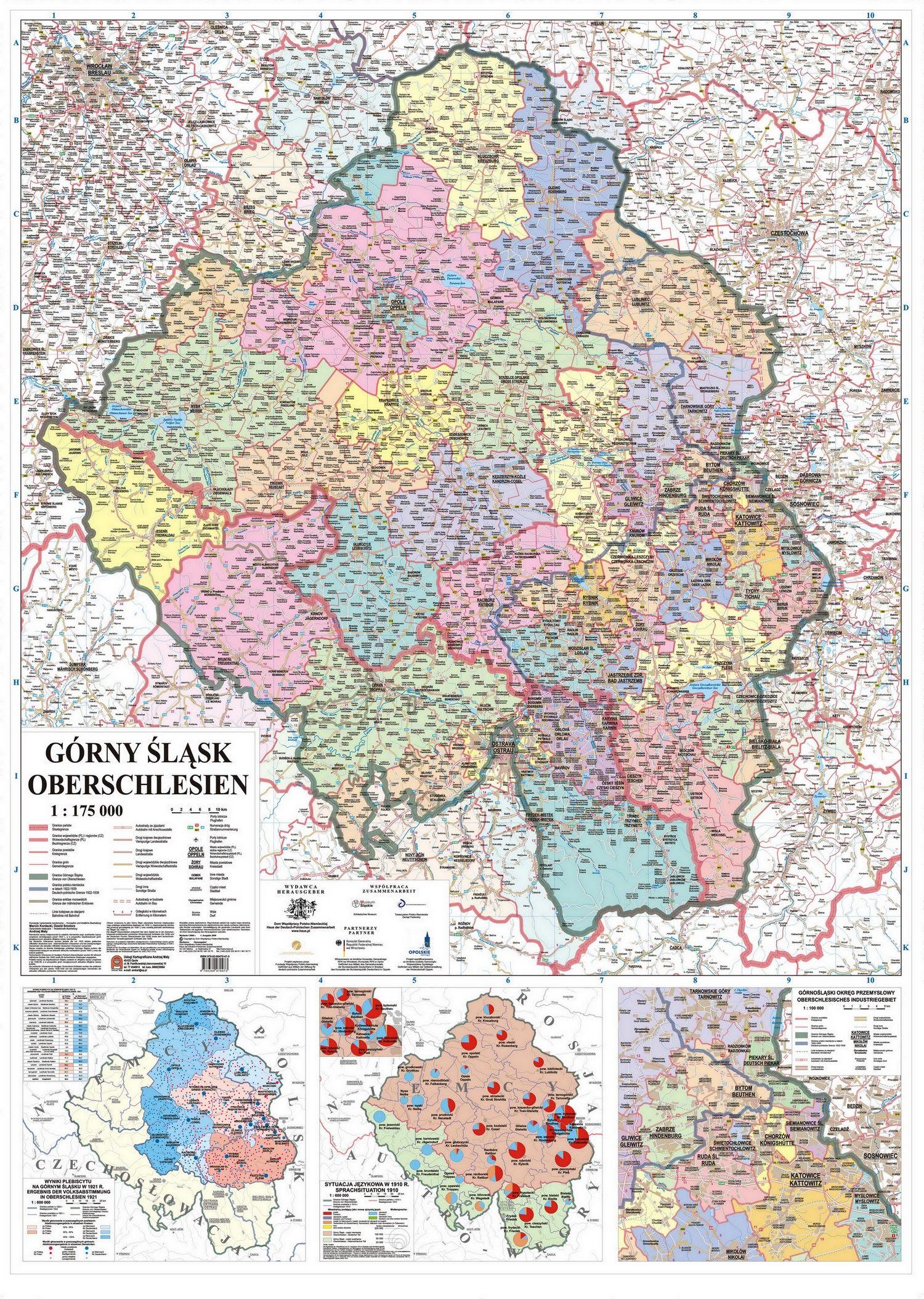 Map Of Upper Silesia Karte Von Oberschlesien Schlesien Karten