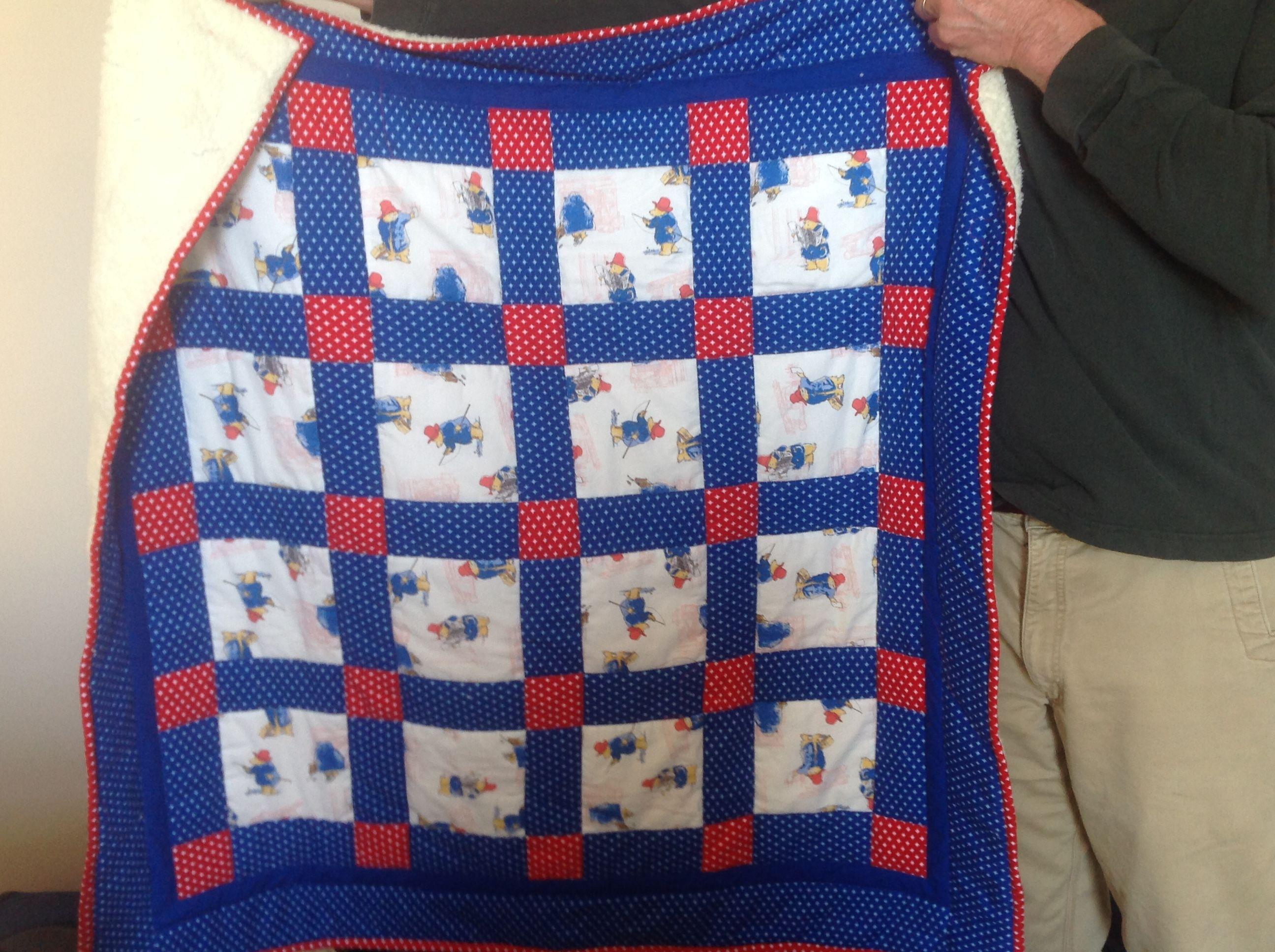 Warm and cuddly Paddington Bear Quilt. Back side is thick fleece ... : paddington bear quilt - Adamdwight.com