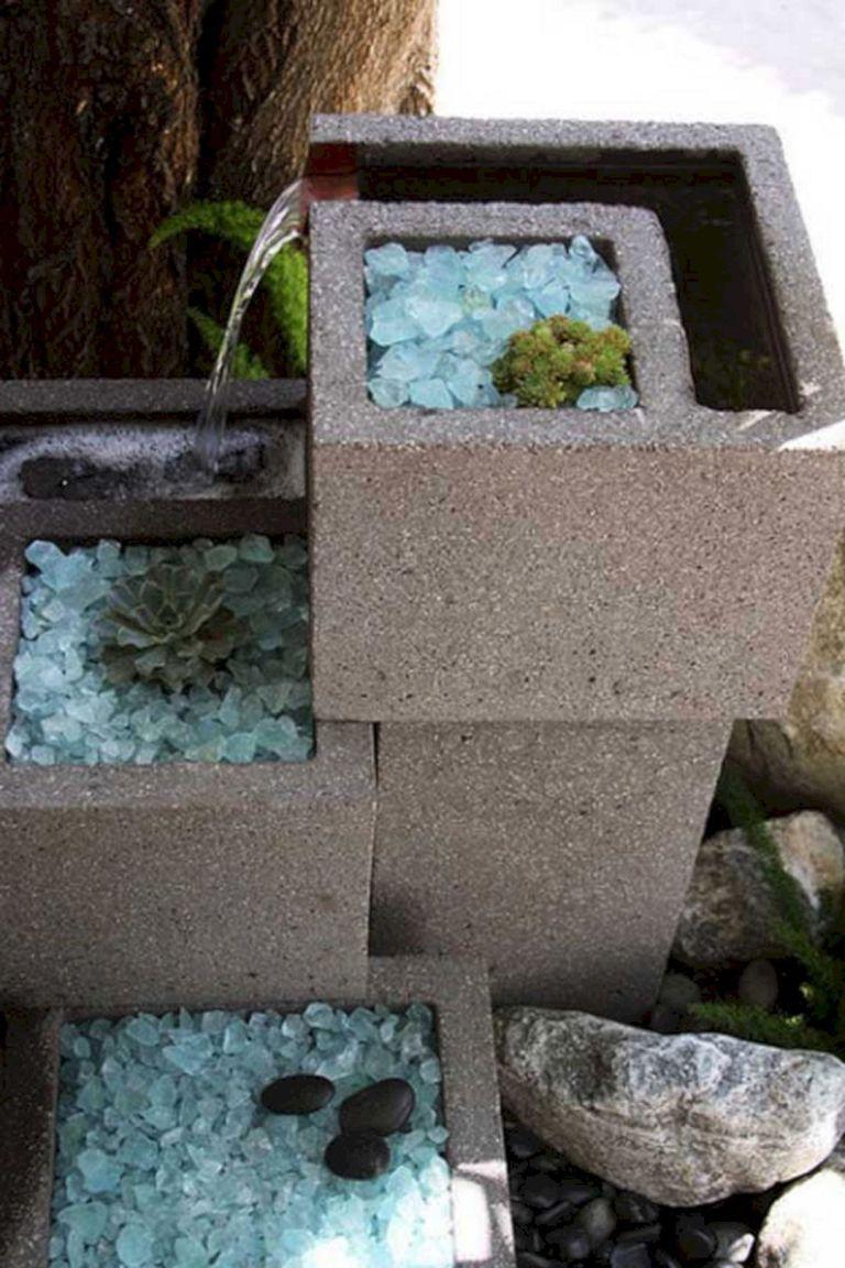 Cinder block fountain decoredo cinder block garden