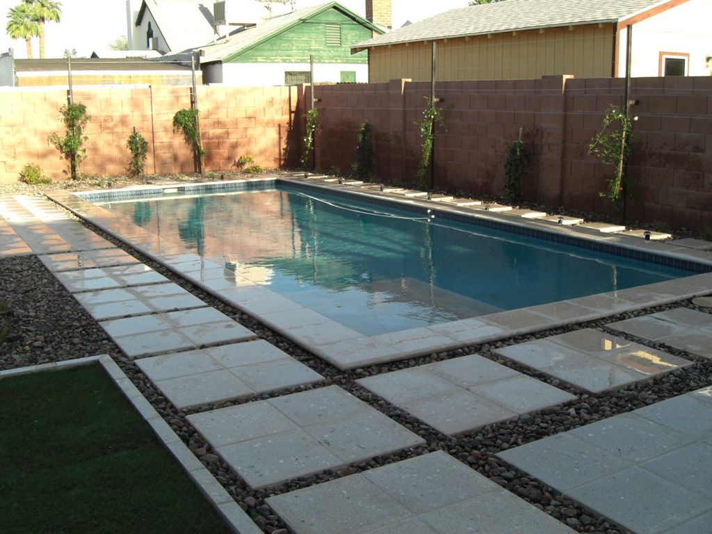 pool decks pool landscaping swimming pool fountains desert pool deck - Swimming Pool Deck Design