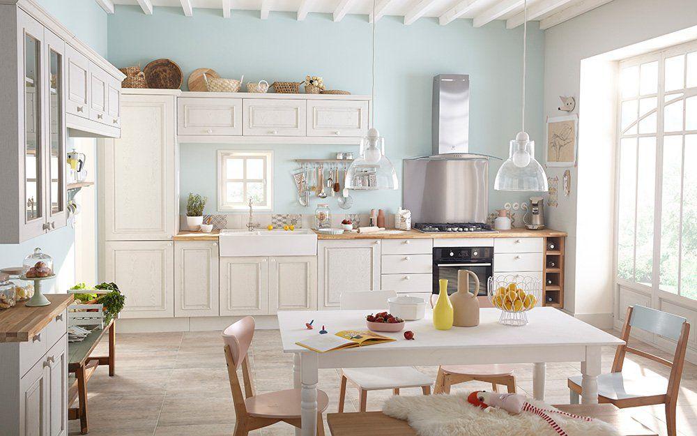 cuisine-blanche-pastel-leroy-merlin.jpg (1000×625) | Cuisine | Pinterest