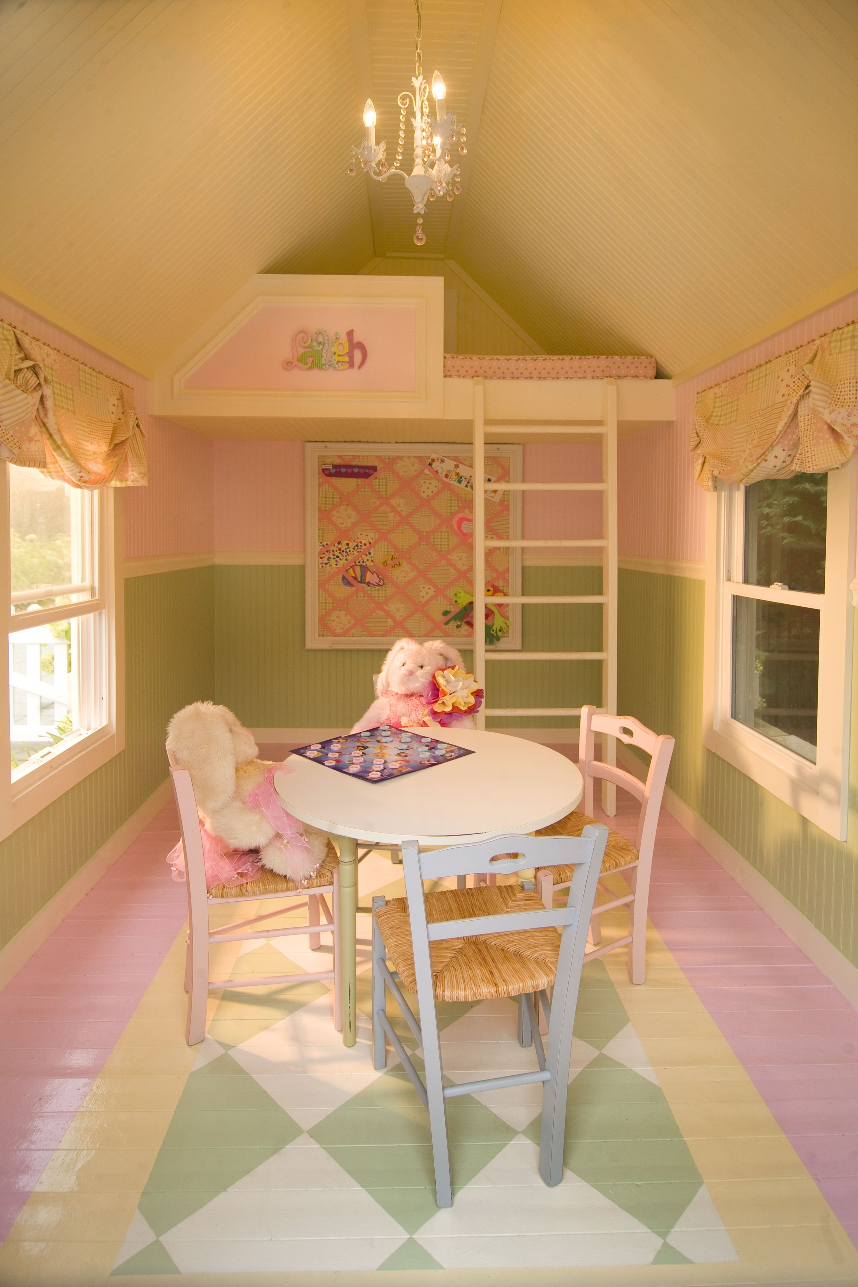 Kids Play Shed Interior