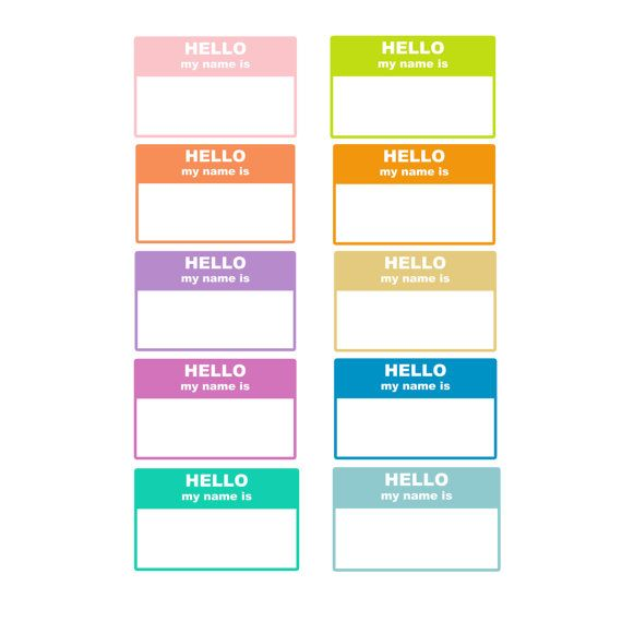 60 Off Sale Digital Labels Hello My Name Is 10 Pieces Png Etsy Digital Labels Hello My Name Is Labels