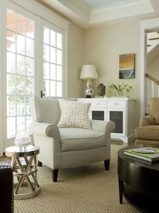 Living Room Makeovers - Before and After White walls and unfinished