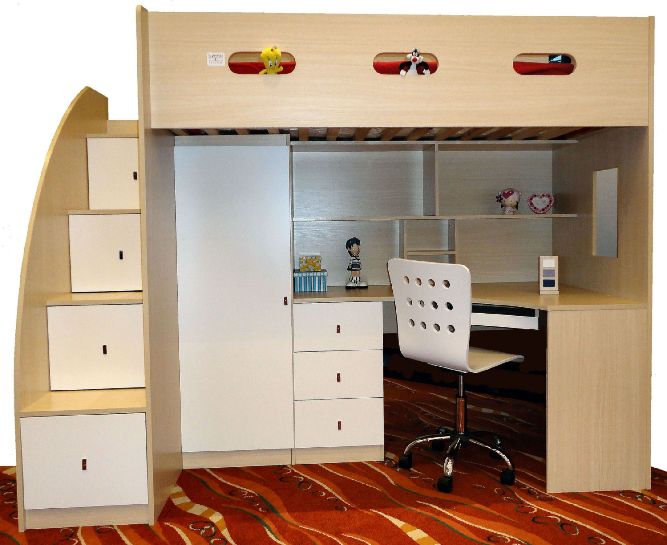 Loft bed with desk cheap  Discount Loft Beds with Desk  Living Room Sets Furniture Check more