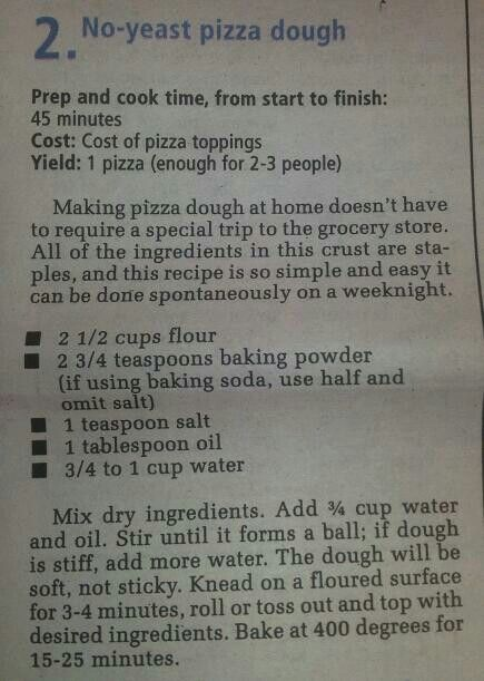 easy homemade pizza dough with self rising flour. no yeast pizza dough-so i used this base recipe and garbonzo bean flour easy homemade dough with self rising g