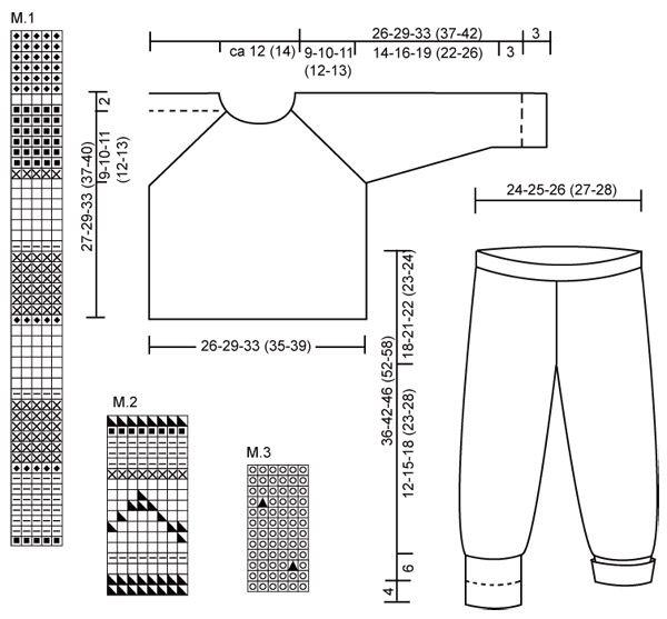 DROPS Baby 13-12 - Pulli, Hose und Mütze in Alpaca (Kuscheltier 8-13) - Free pattern by DROPS Design
