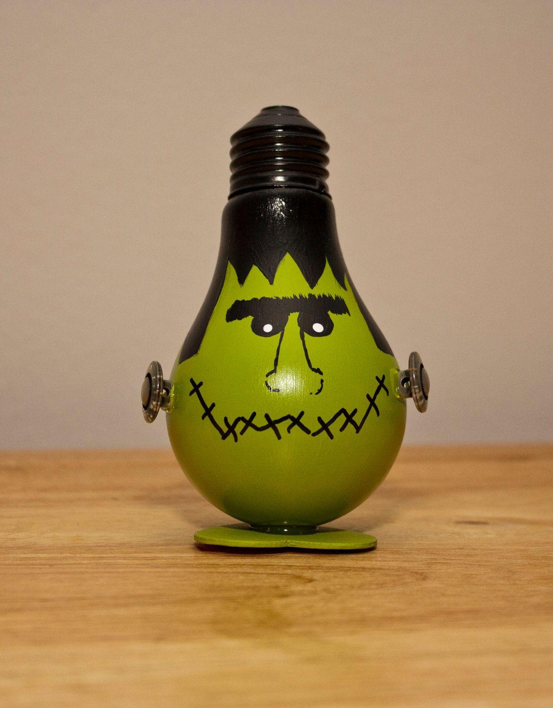 Frankenstein Bulb Decoration Light Bulb Crafts Light Bulb Ornaments Painted Light Bulbs