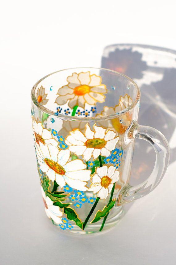 Daisy Mug Flower Coffee Mug Mother S Day Personalized Daisy Decor Grandma Gift Mug Personalized Grandma Gifts Gifts In A Mug Mugs